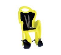 Купить Сиденье задн. Bellelli Mr Fox Standart B-fix до 22кг, неоново-жёлтое с темно-синей подкладкой (Hi Vision) в Украине