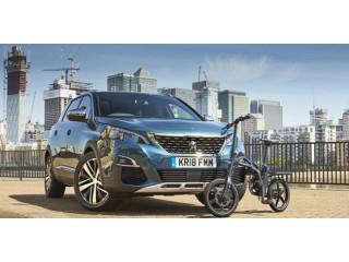 В оснащение кроссовера Peugeot 5008 добавили электровелосипед