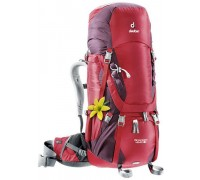 Рюкзак Deuter, Aircontact 40+10 SL цвет 5005 cranberry-aubergine