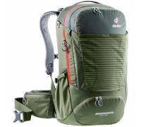 Рюкзак велосипедный Deuter, Trans Alpine Pro 28 цвет 2237 ivy-khaki