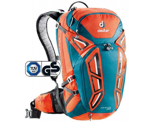 Рюкзак велосипедный Deuter, Attack 20, цвет 9306 papaya-petrol