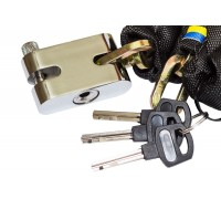 Противоугонная цепь Gartex Z-1, 6х1500 мм с замком (обычный 001)
