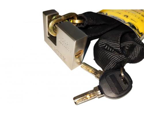 Противоугонная цепь Gartex Z-1, 6х1200 мм с замком (комфортный 003)