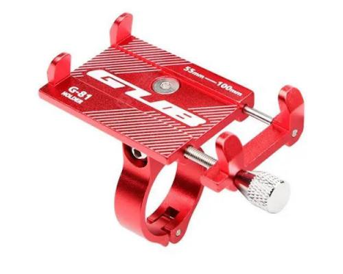 Держатель гаджетов GUB G-81 алюминиевый на руль красный