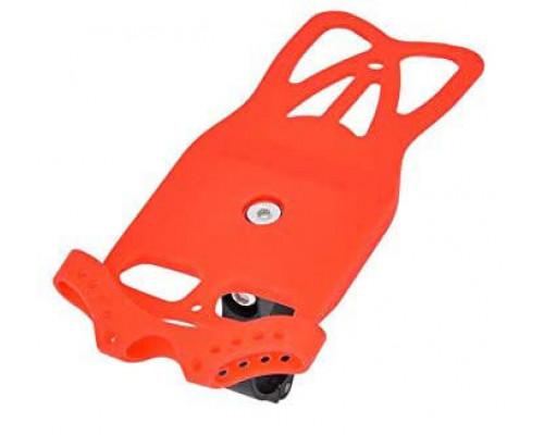 Держатель гаджетов GUB P8 силиконовый с алюминиевой основой на руль красный