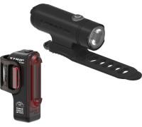 Комплект света Lezyne CLASSIC DRIVE / STRIP PAIR Чорный матовий/Чорный 500/150 люмен.