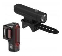 Комплект света Lezyne CLASSIC DRIVE XL / STICK PAIR Чорный матовий/Чорный 700/30 люмен.
