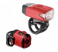 Комплект света Lezyne LED KTV DRIVE / FEMTO USB PAIR Красный 220/5 люменів