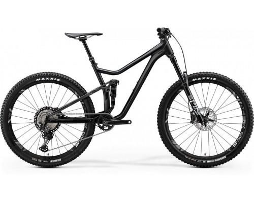 "Велосипед двухподвесной 27,5"" Merida, ONE-FORTY 900, MATT BLACK/GLOSSY CANDY GREEN, 2020"
