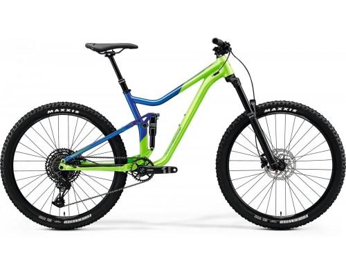 "Велосипед двухподвесной 27,5"" Merida, ONE-FORTY 400, LIGHT GREEN/GLOSSY BLUE, 2020"