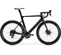 Велосипед шоссейный Merida, REACTO DISC FORCE EDITION, GLOSSY BLACK/GILTTERY SILVER, 2020