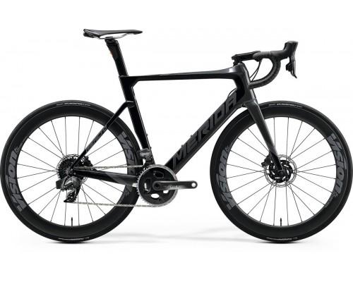 Велосипед шоссейный Merida, REACTO DISC FORCE EDITION, GLOSSY BLACK/GILTTERY SILVER, 2020