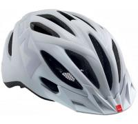 Шлем MET, 20 miles, Matt texture white (reflective stickers)