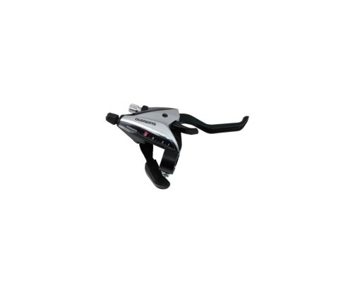 Тормозов ручка / Шифтер (моноблок) ST-EF65 прав 8-н трос, серебр ОЕМ