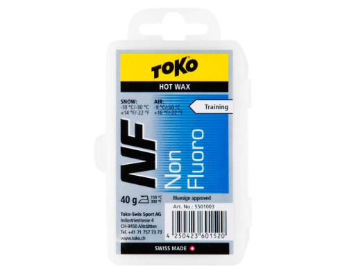 Воск Toko для лыж и сноубордов NF Hot Wax blue 40g
