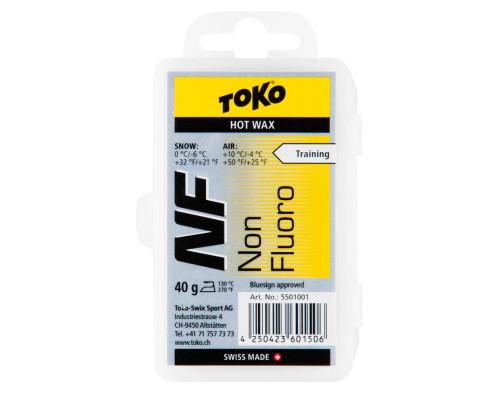 Воск Toko для лыж и сноубордов NF Hot Wax yellow 40g