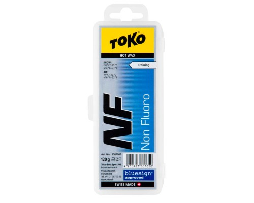 Воск Toko для лыж и сноубордов NF Hot Wax blue 120g