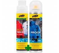 Пропитка и стирка для одежды Toko, Duo-Pack Textile Proof & Eco Textile Wash, 250ml